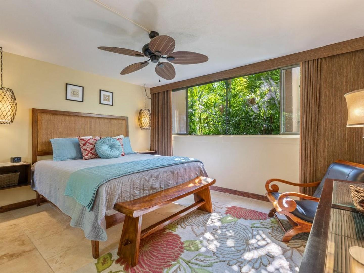 Tropically appointed bedroom!