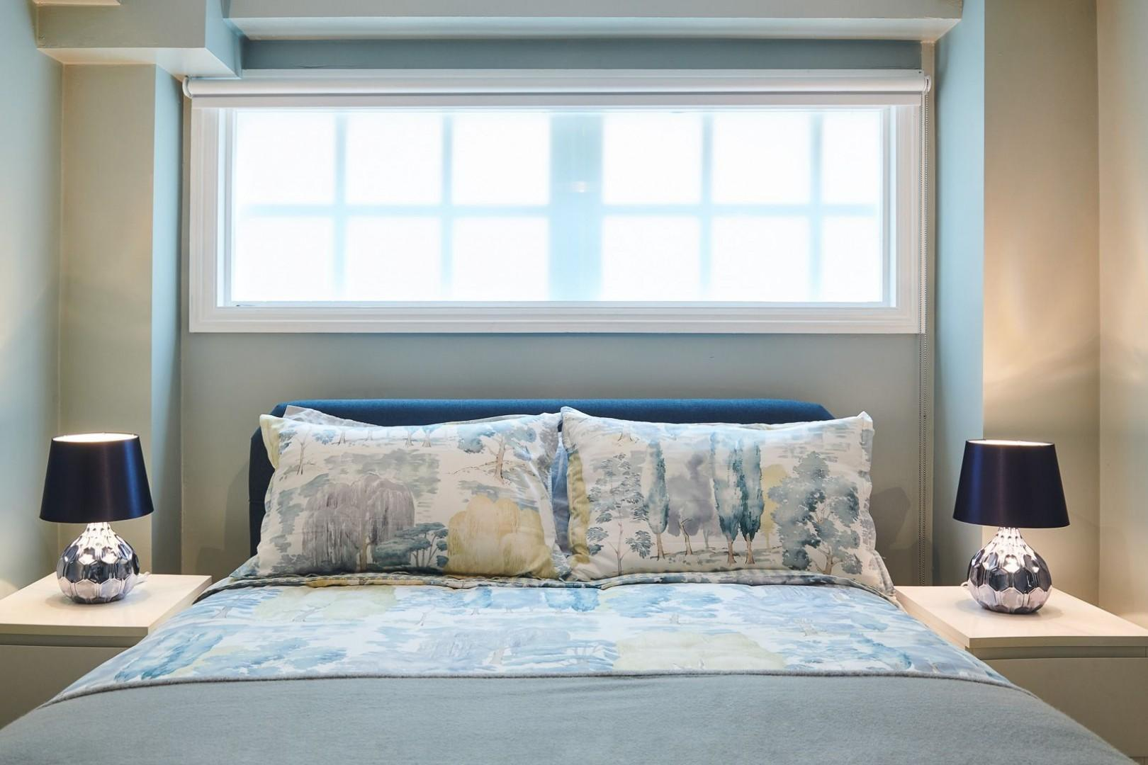 Luxurious linens and soft lighting