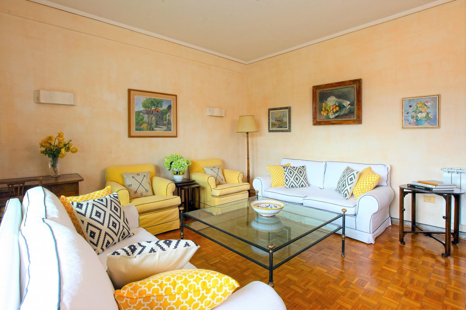 Well appointed, comfortable living room perfect for congregating and relaxing.