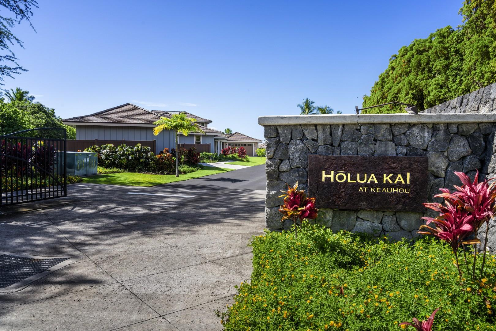 Holua Kai Complex entry gate