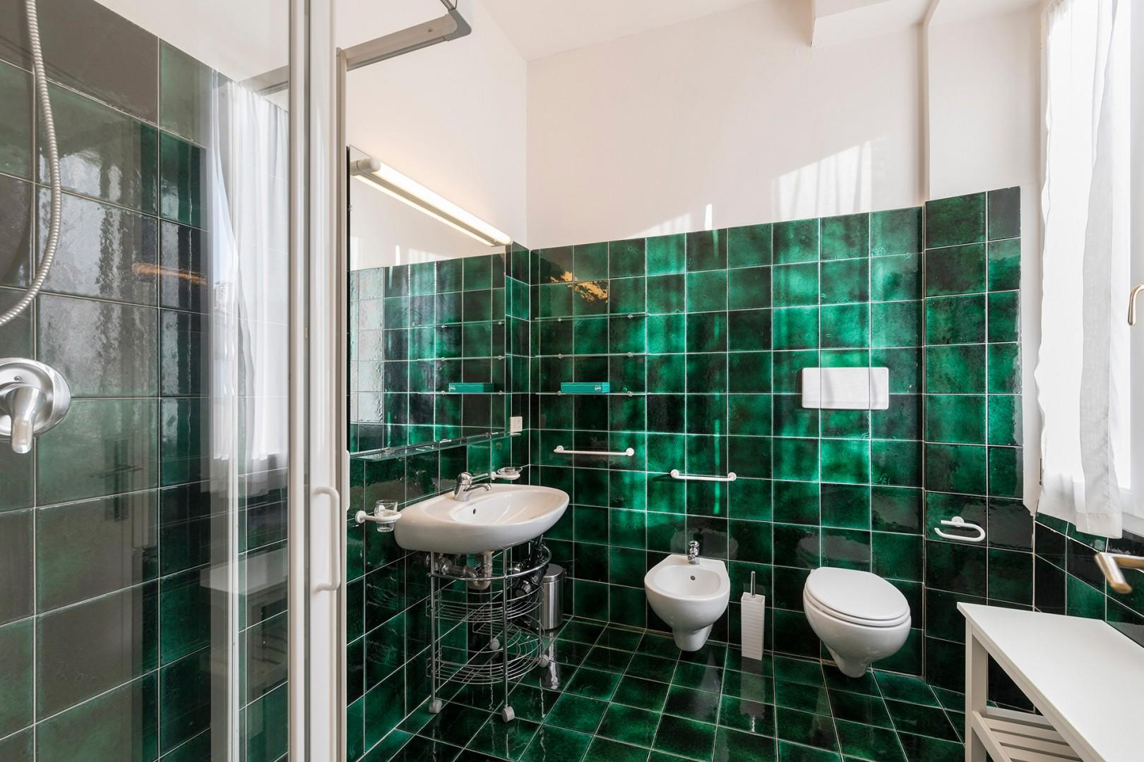 Bathroom 2 with a shower en suite to bedroom 3.