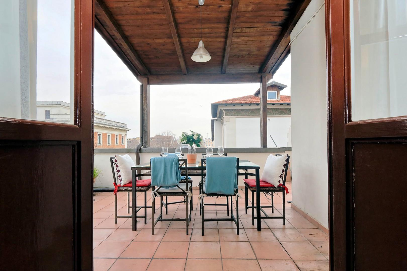 What better way to enjoy Rome than on your own expansive terrace