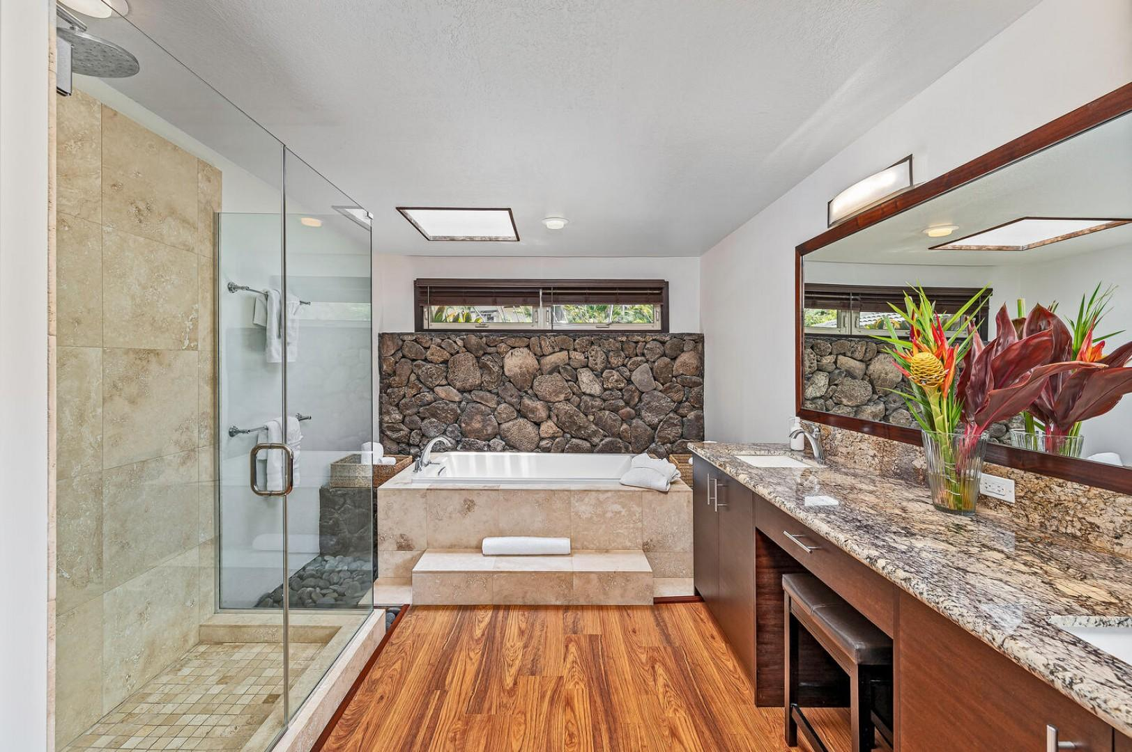 Master ensuite designed to make you feel as if you are at the spa!