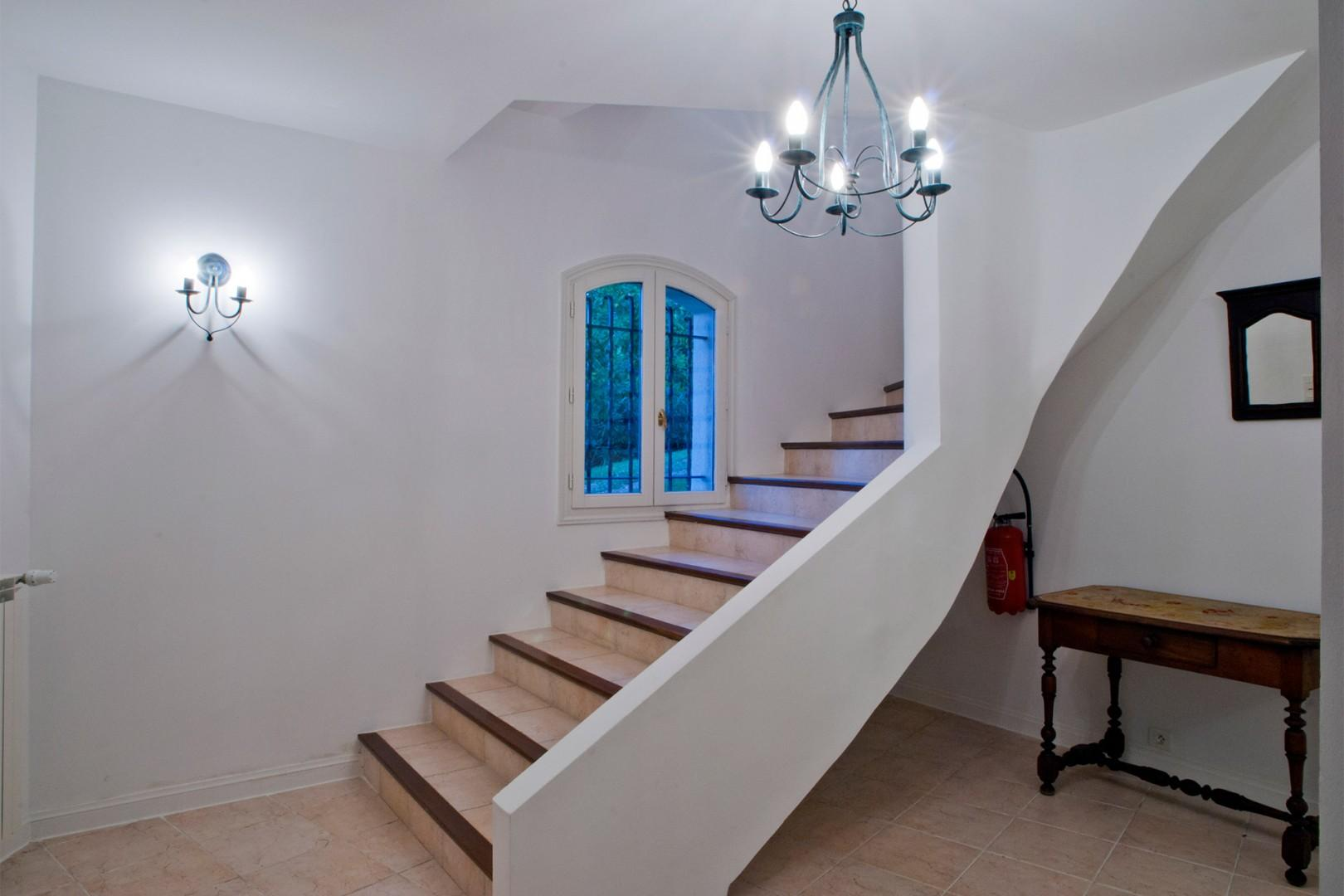 Internal staircase leading to the second floor