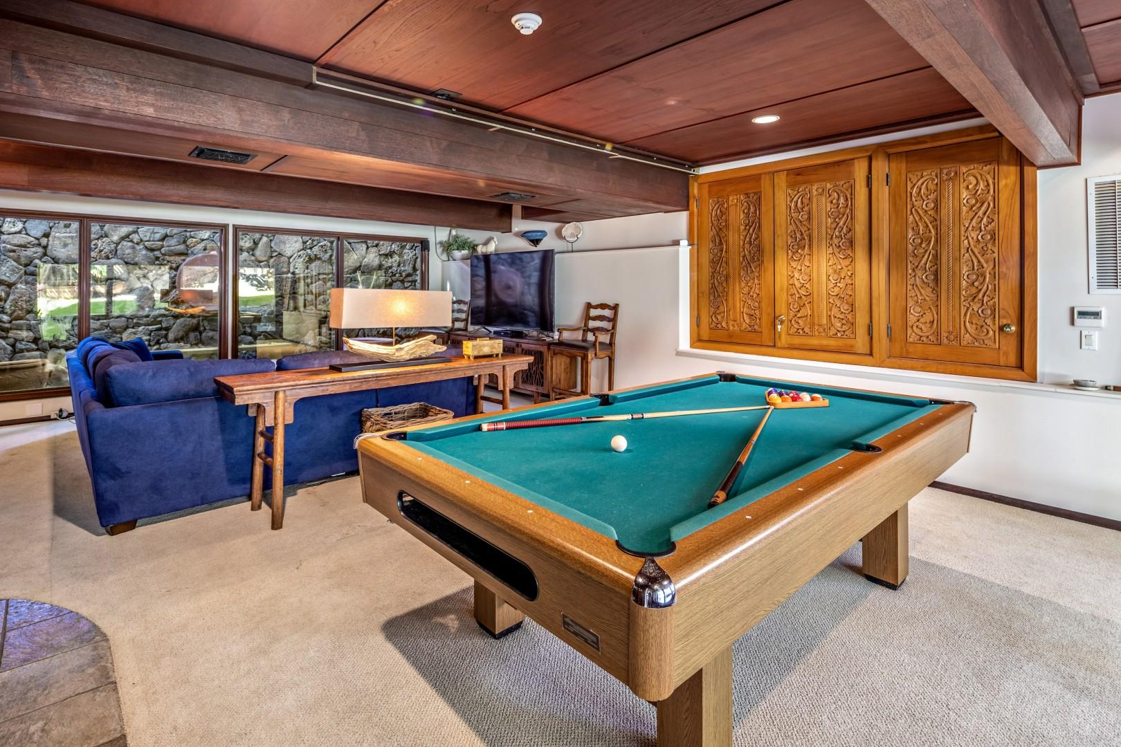 TV and pool room