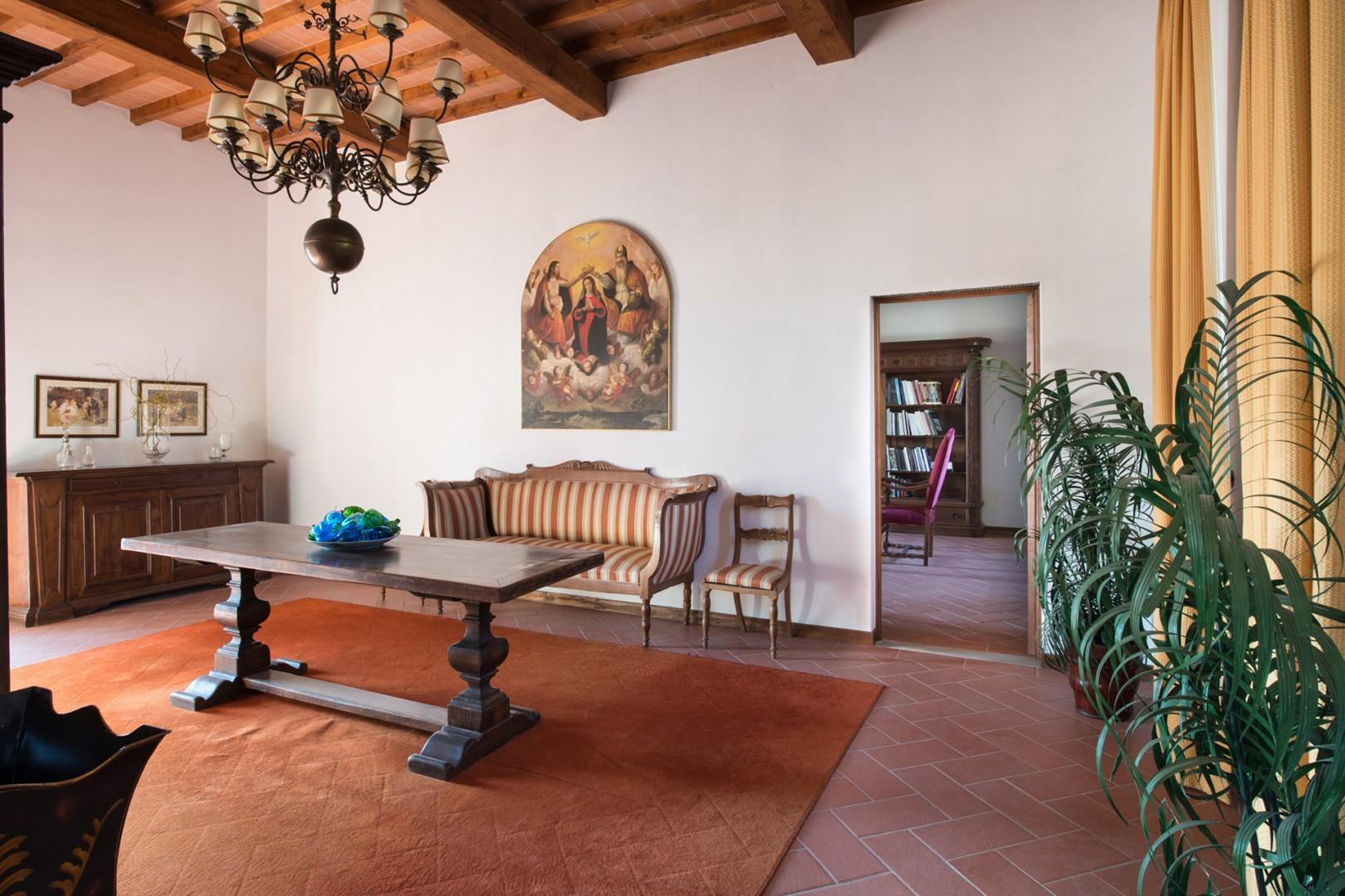 Spacious entry foyer hints at the roominess of this generously proportioned villa.