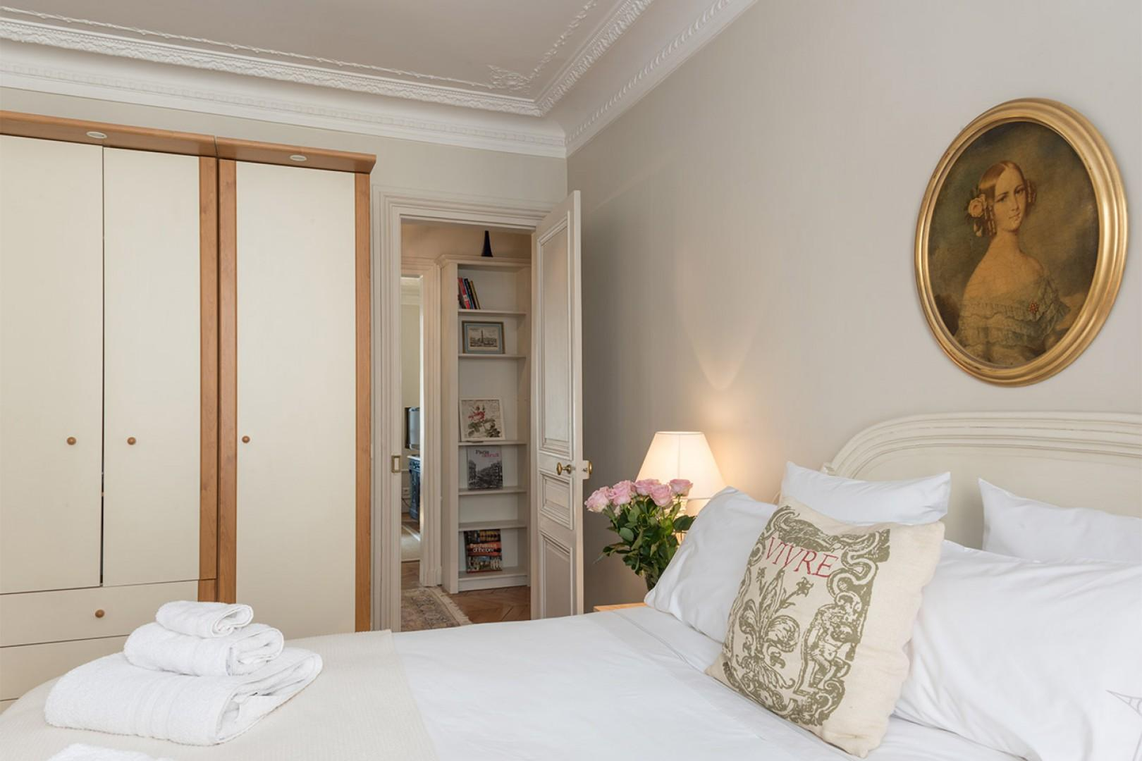 There are large built-in closets in bedroom 1 for all your belongings.
