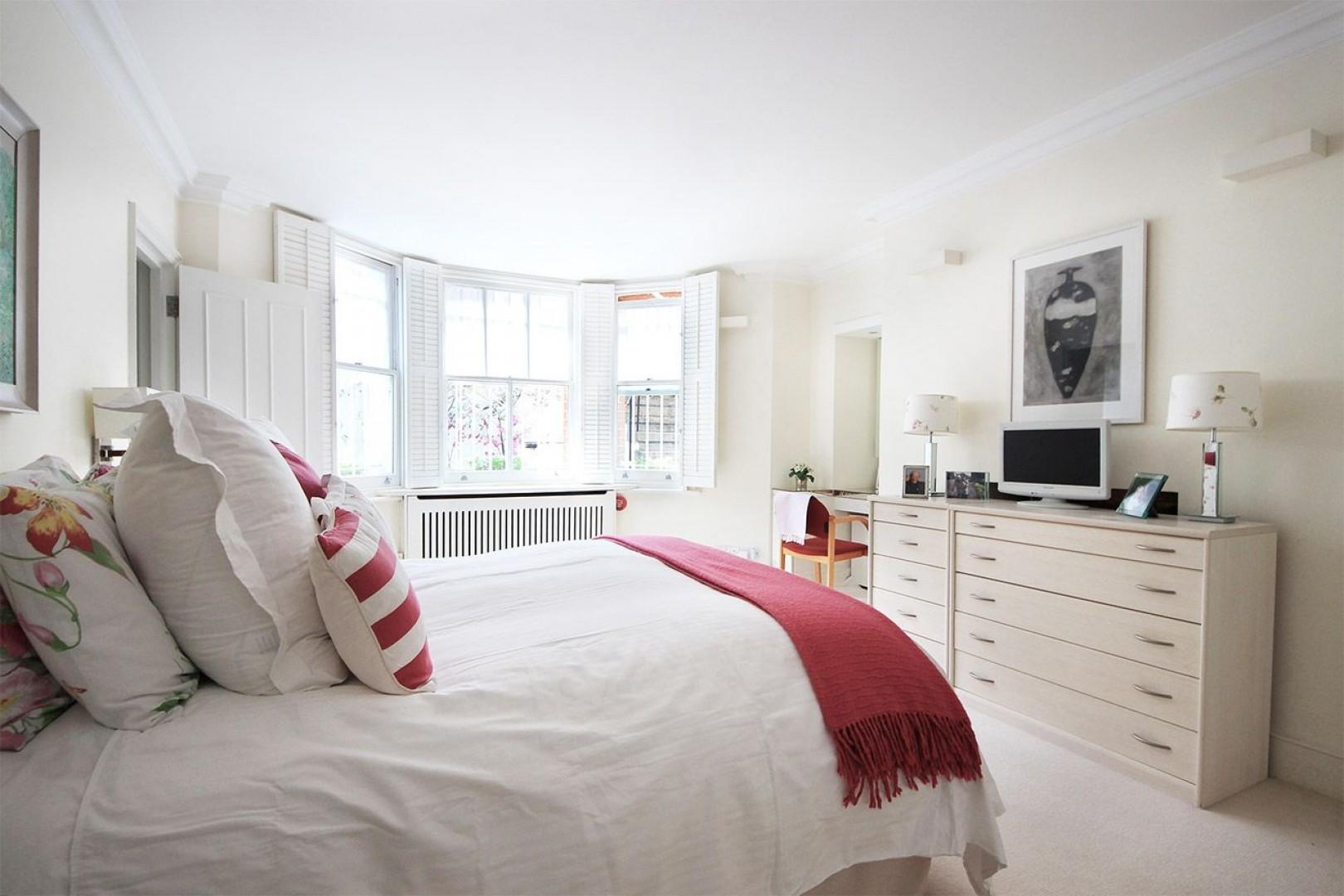 Spacious bedroom 1 is perfect for relaxing in style