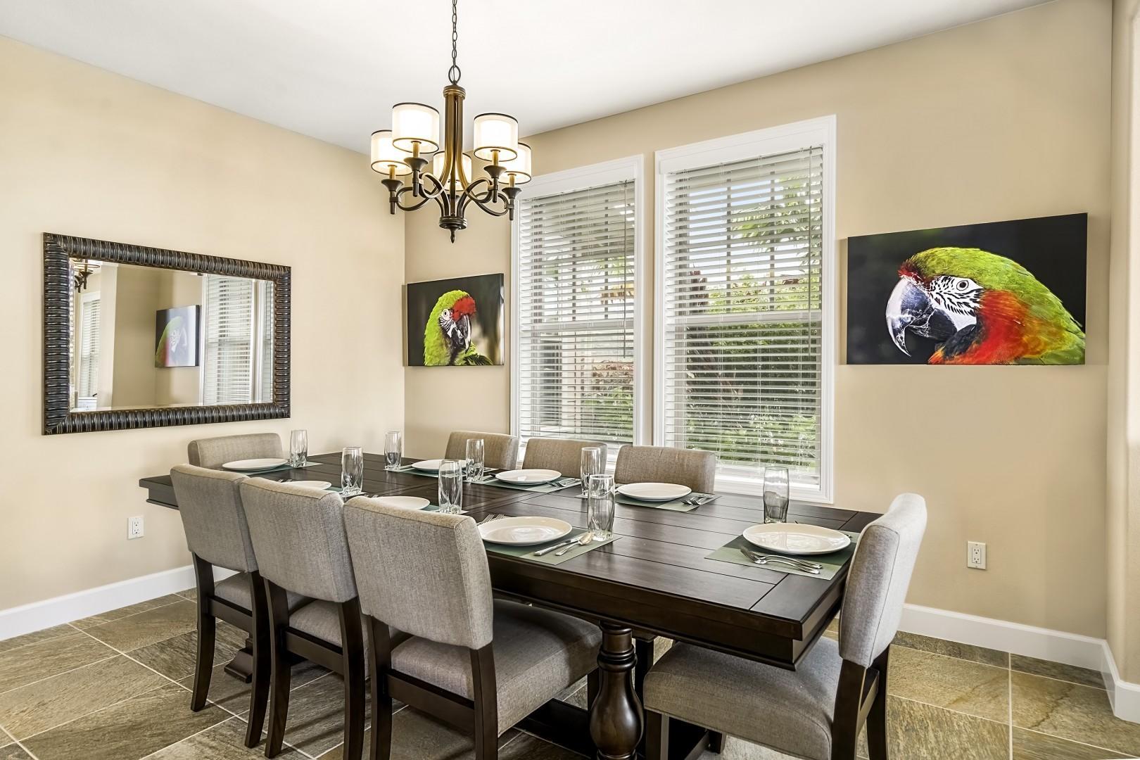 Spacious indoor dining area