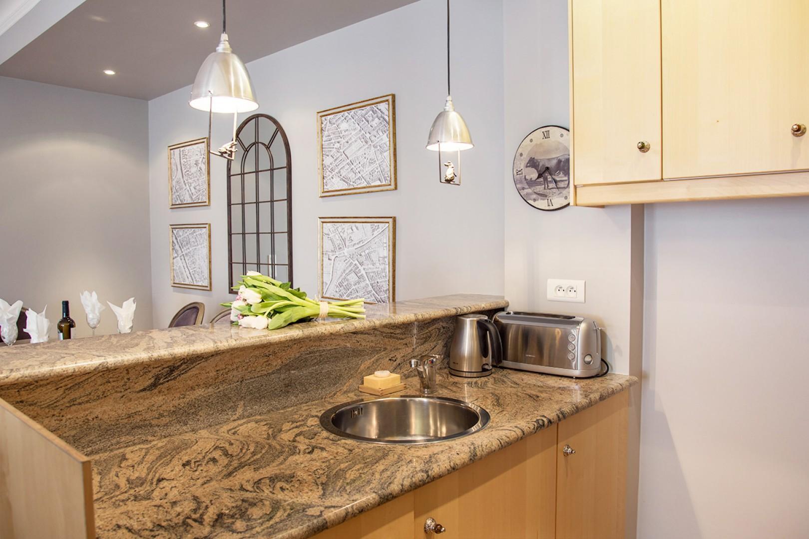 Enjoy preparing meals in your Parisian kitchen!