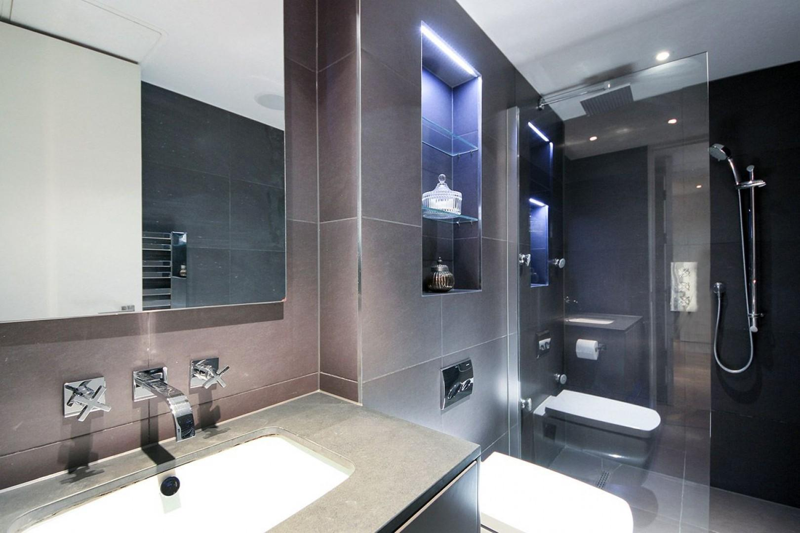 Modern finishes in the bathroom