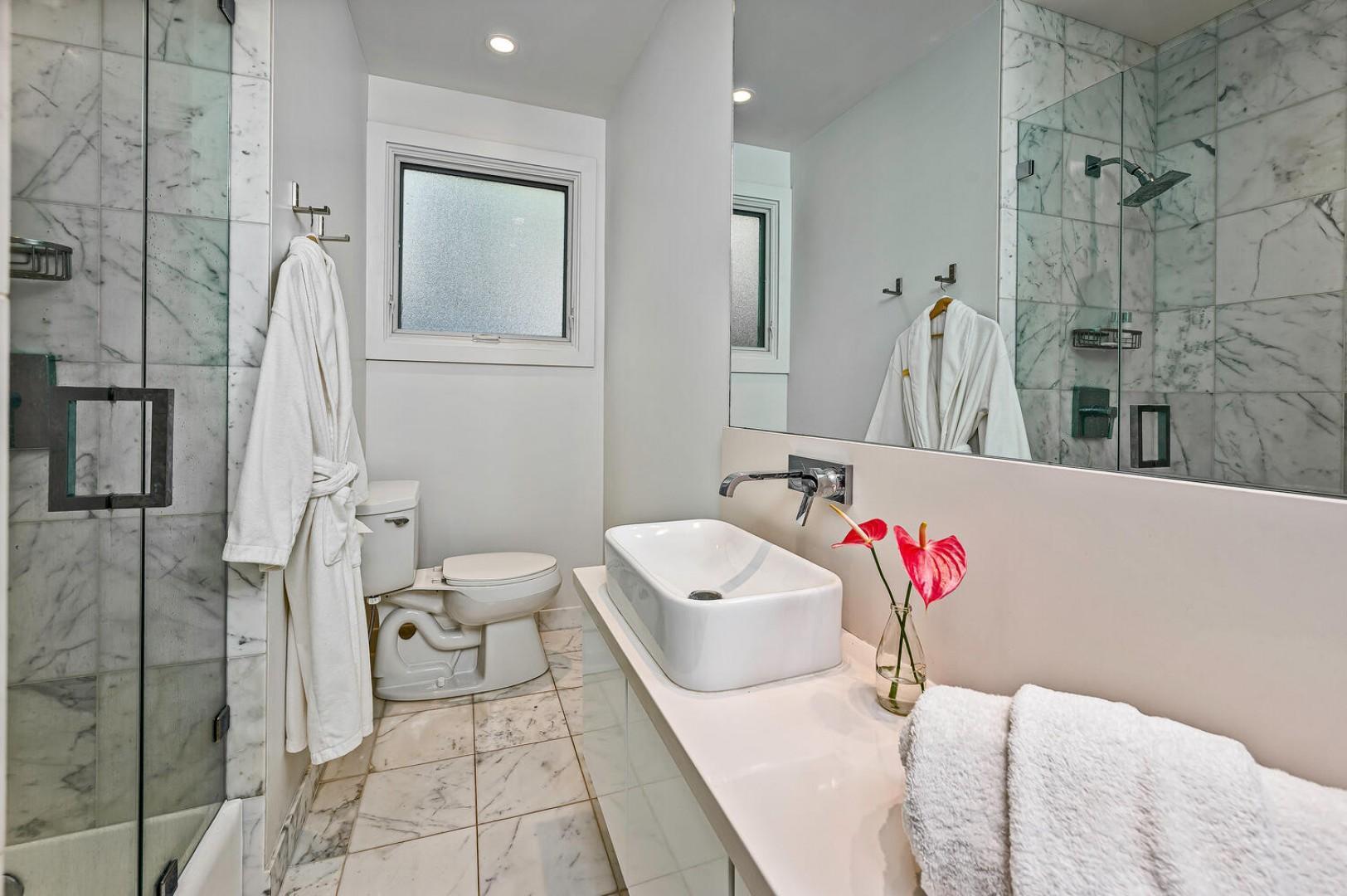 Full bath on main floor
