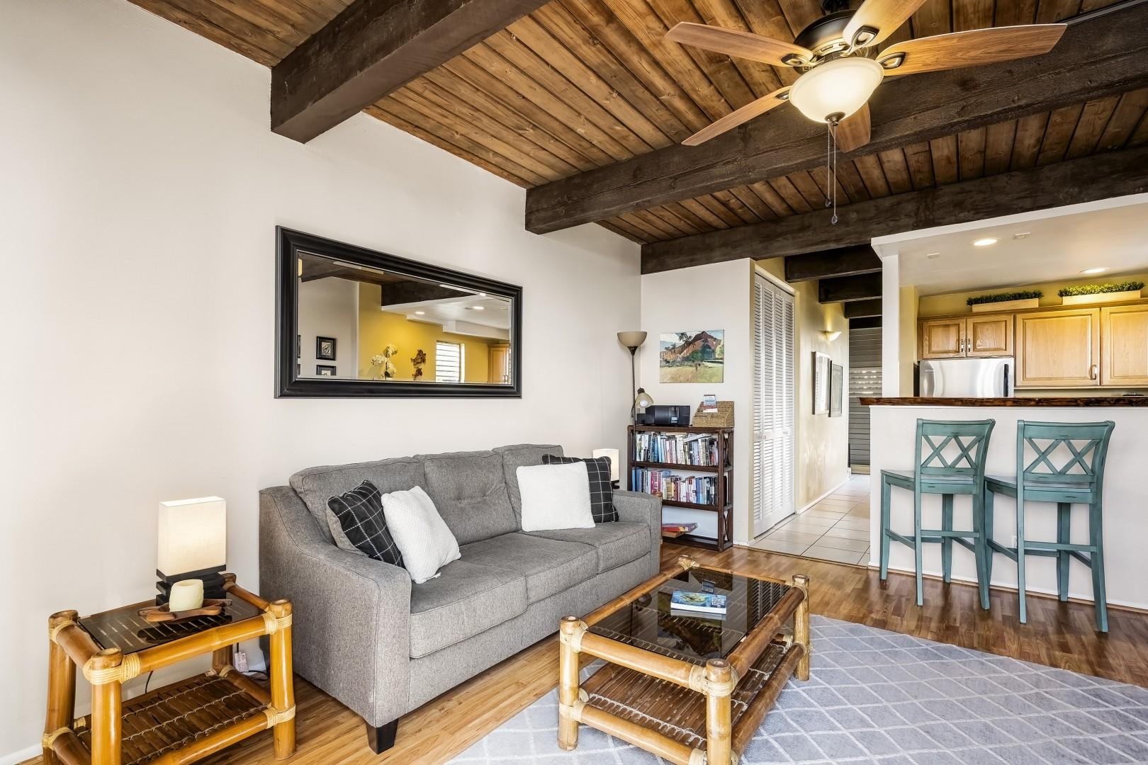 Open concept with vaulted ceiling can be found here as well!