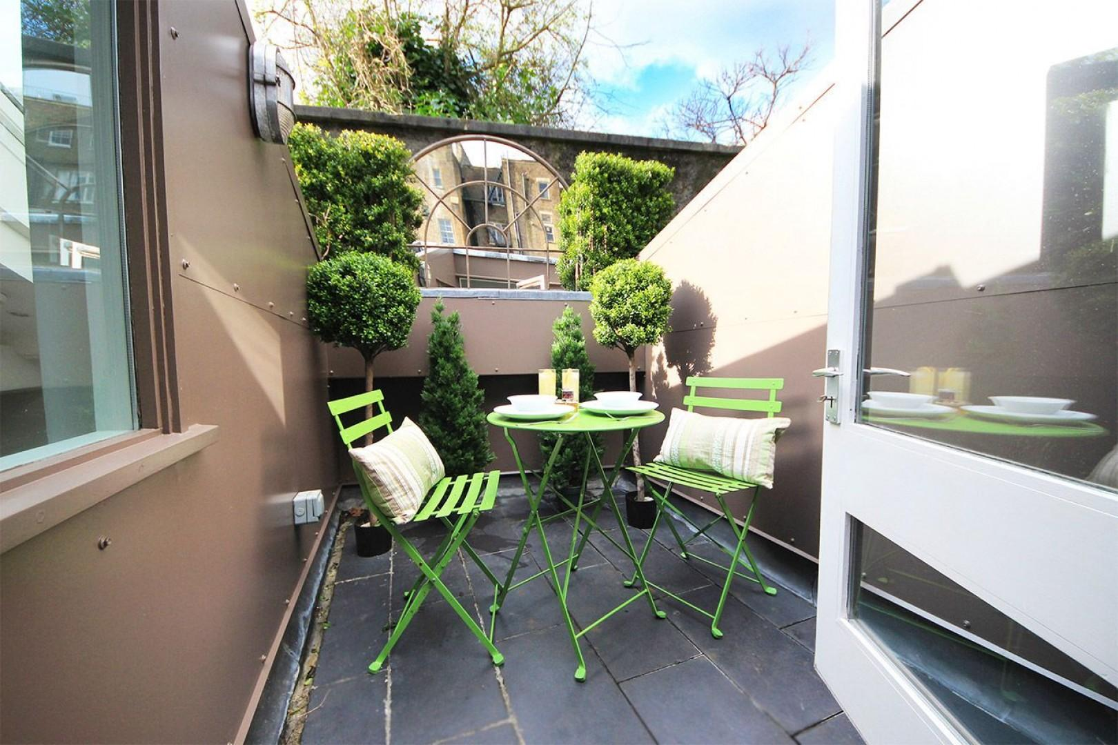 Step out of the study nook to this charming terrace