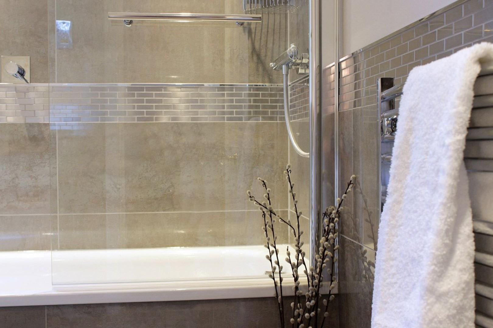 Enjoy your choice of a relaxing shower or bath