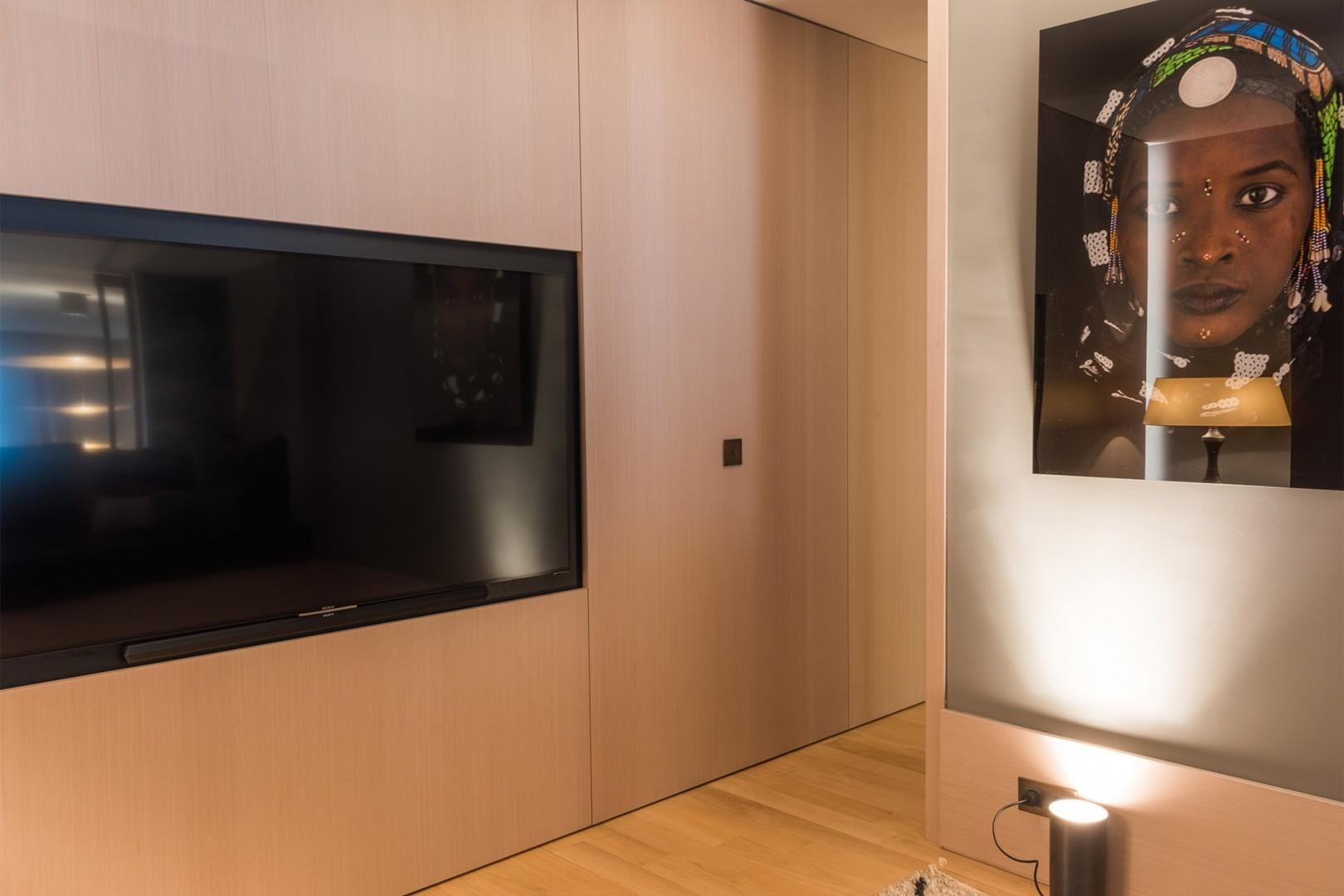 There is also a separate TV room.