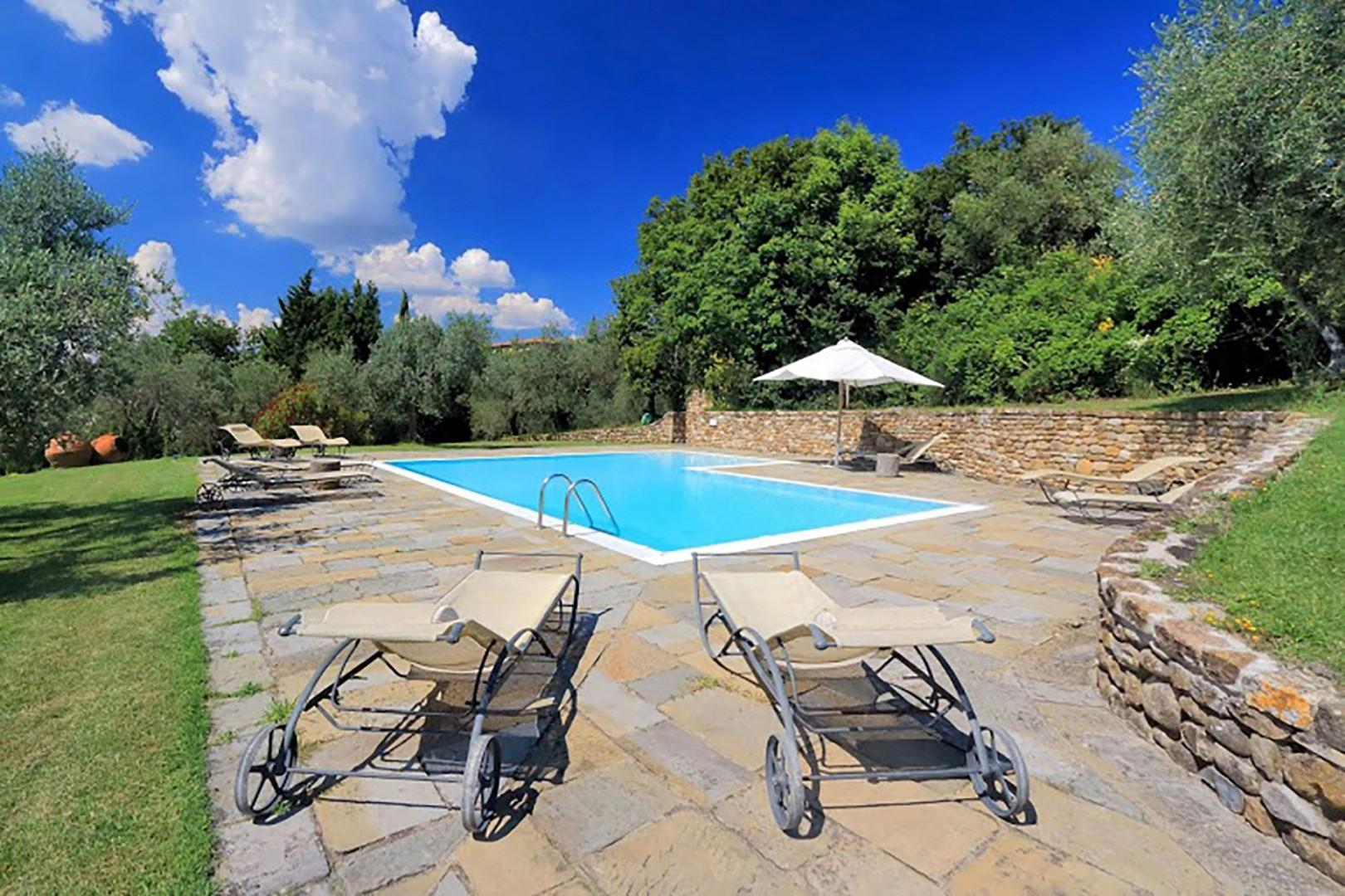 The villa has a private pool that is 5 x 10 meters or 16 x 33 feet.