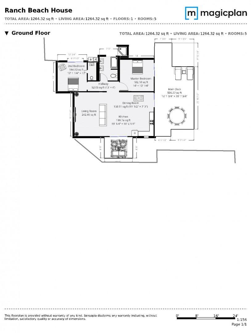 Ranch Beach House Floorplan