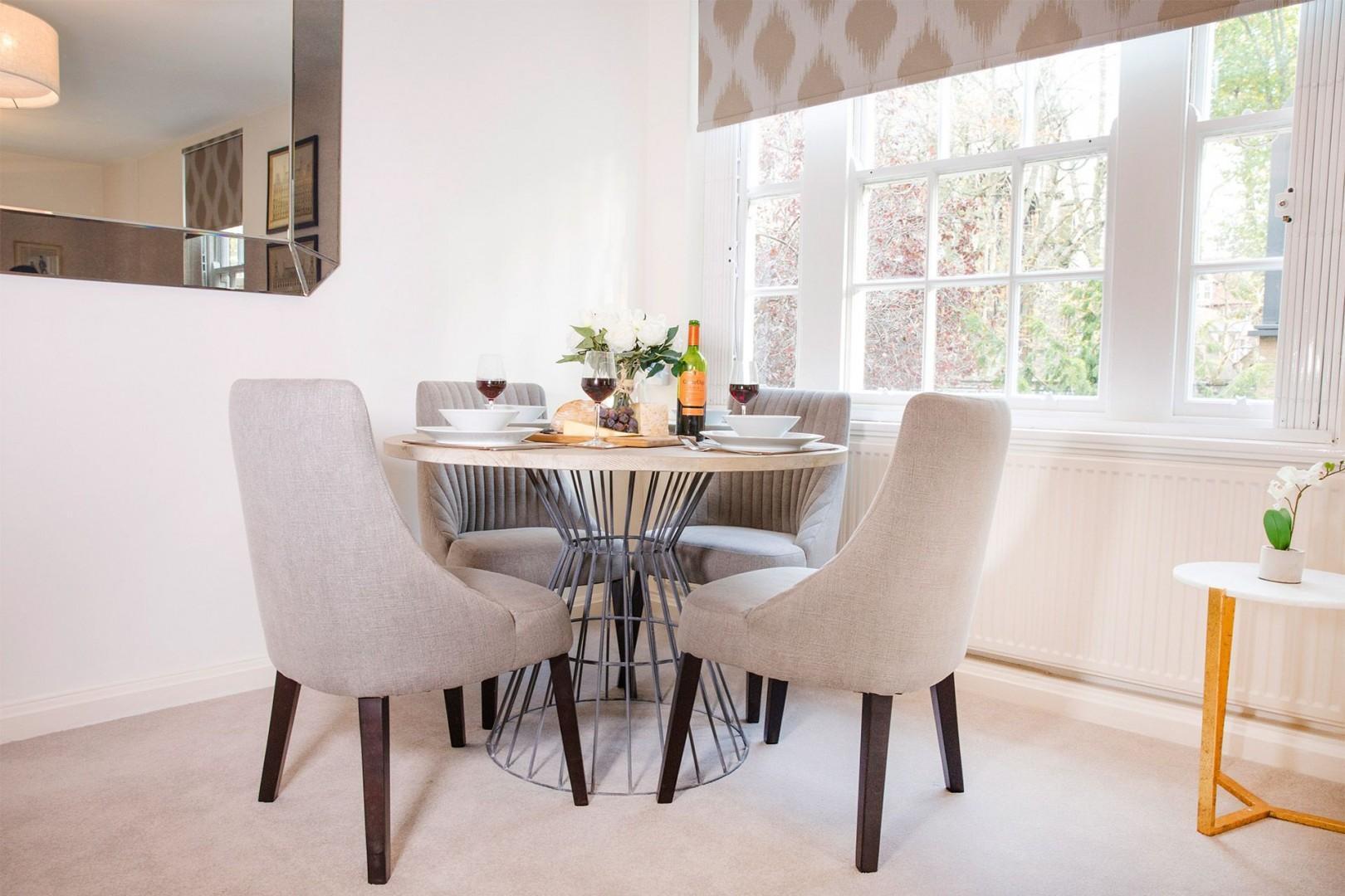 Elegant round dining table