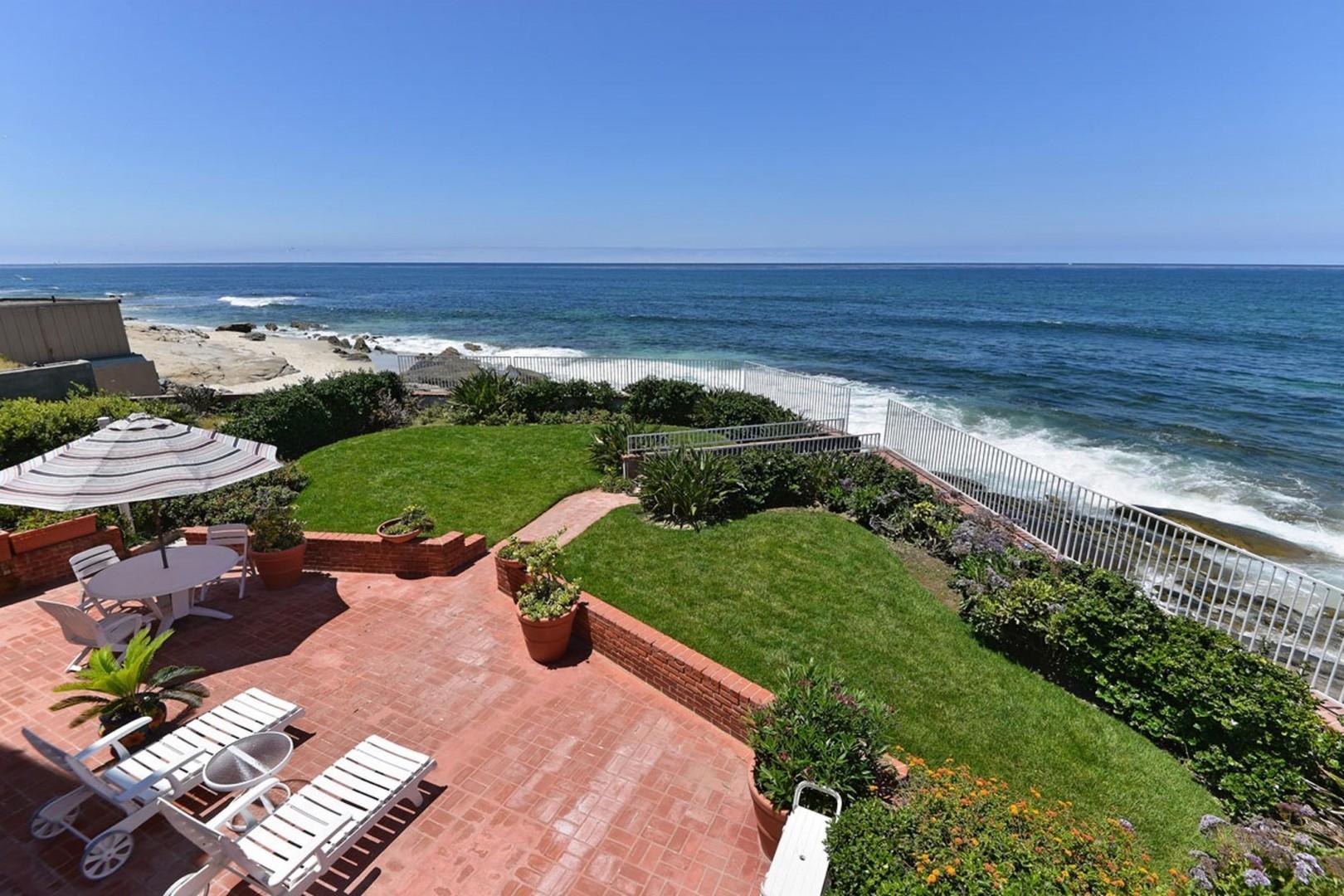 Backyard overlooking the coast