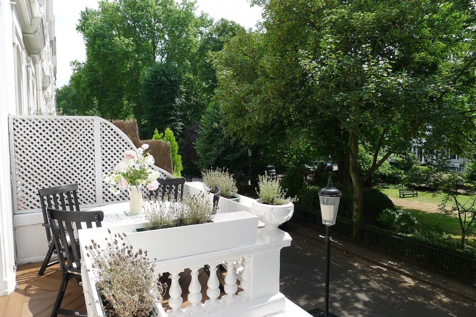 Balcony is a peaceful spot on sunny days