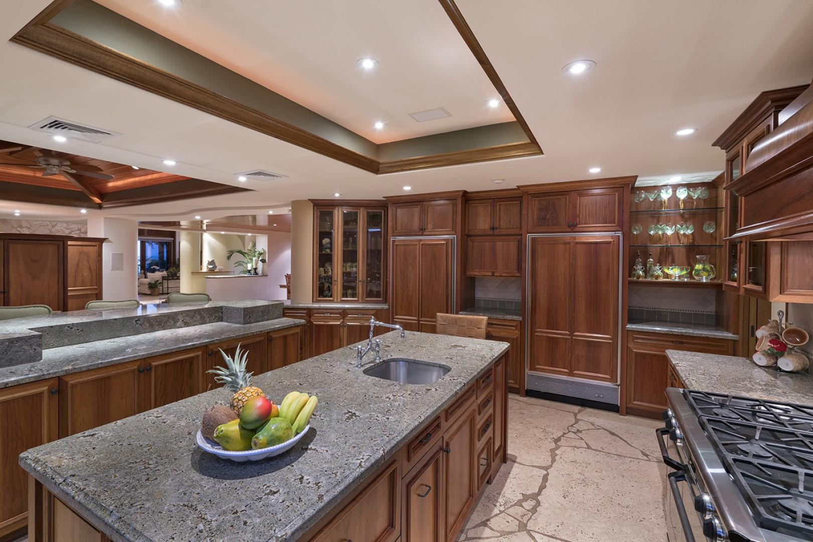 Main house: Kitchen comes with top of the line appliances, including a gas stove.