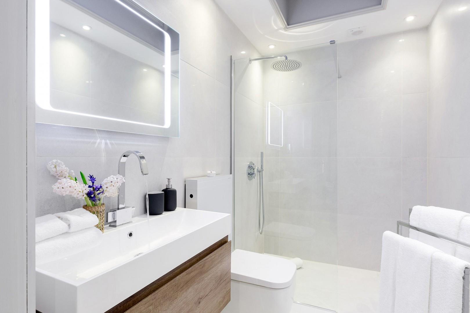 Rainfall showerhead in bathroom 2
