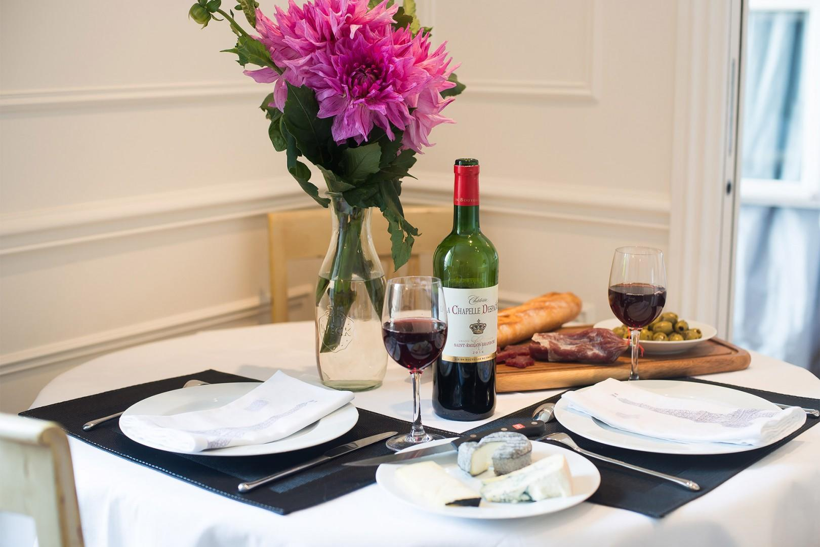 Treat your special someone to a romantic French dinner at home.
