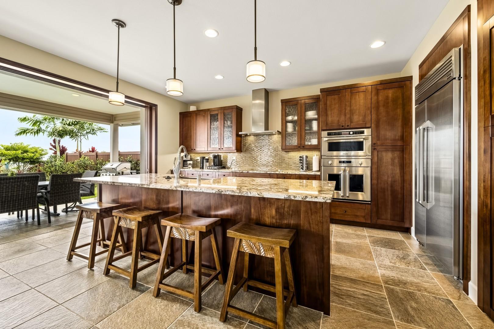 Elegant kitchen with breakfast bar!