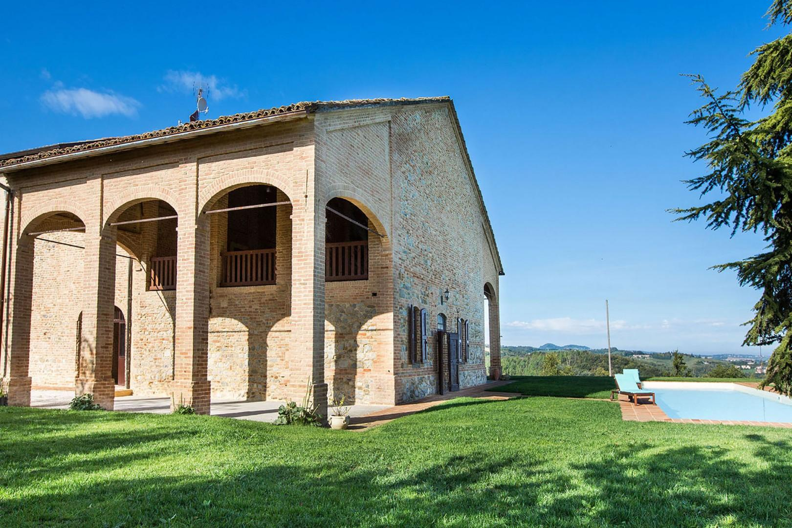 Fine old brick and stone home with 360 degree views.