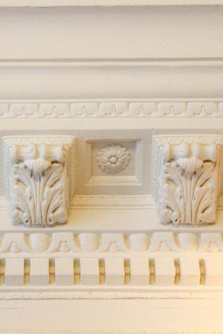 Architectural detailing at historic South Kensington rental