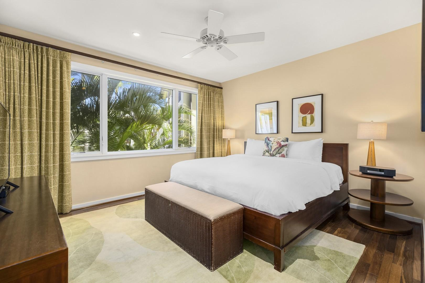Master Bedroom with a gorgeous view