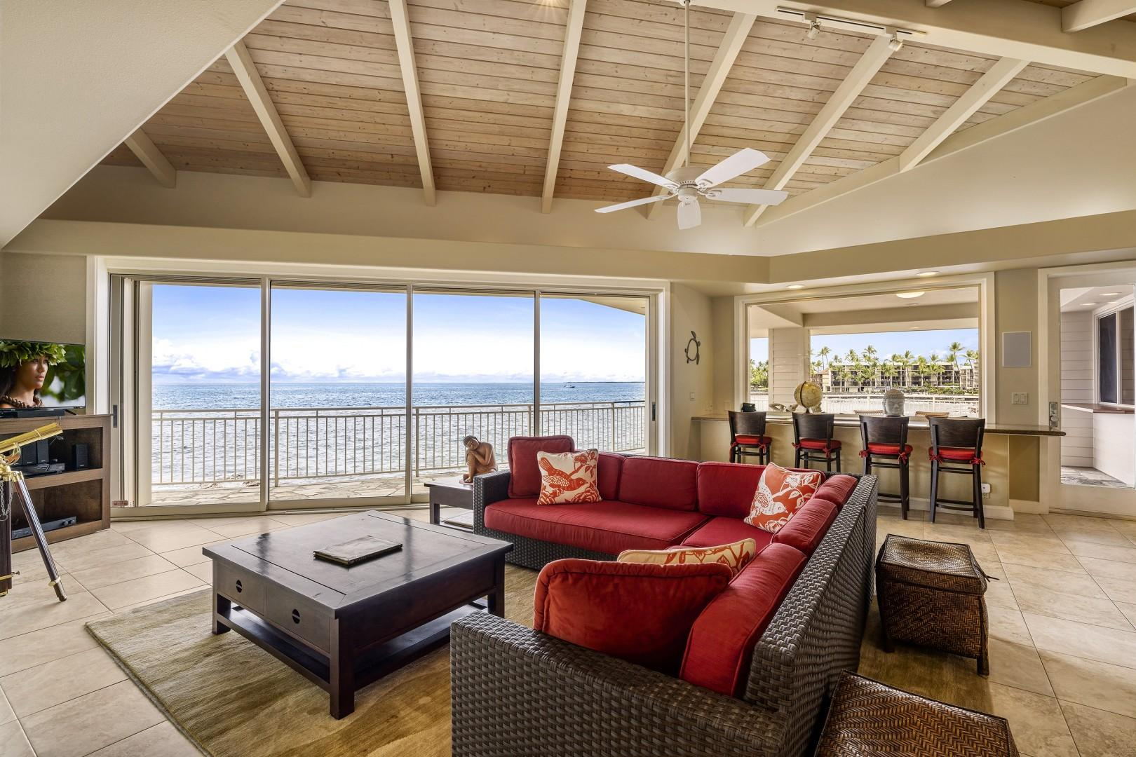 Breathtaking views of the ocean right from the couch!