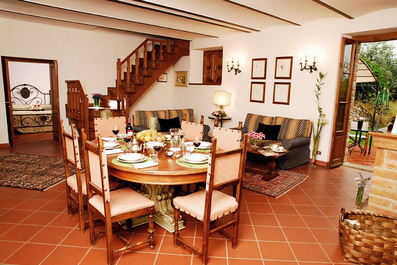 This is a two floor apartment, see the stairs off the dining area.