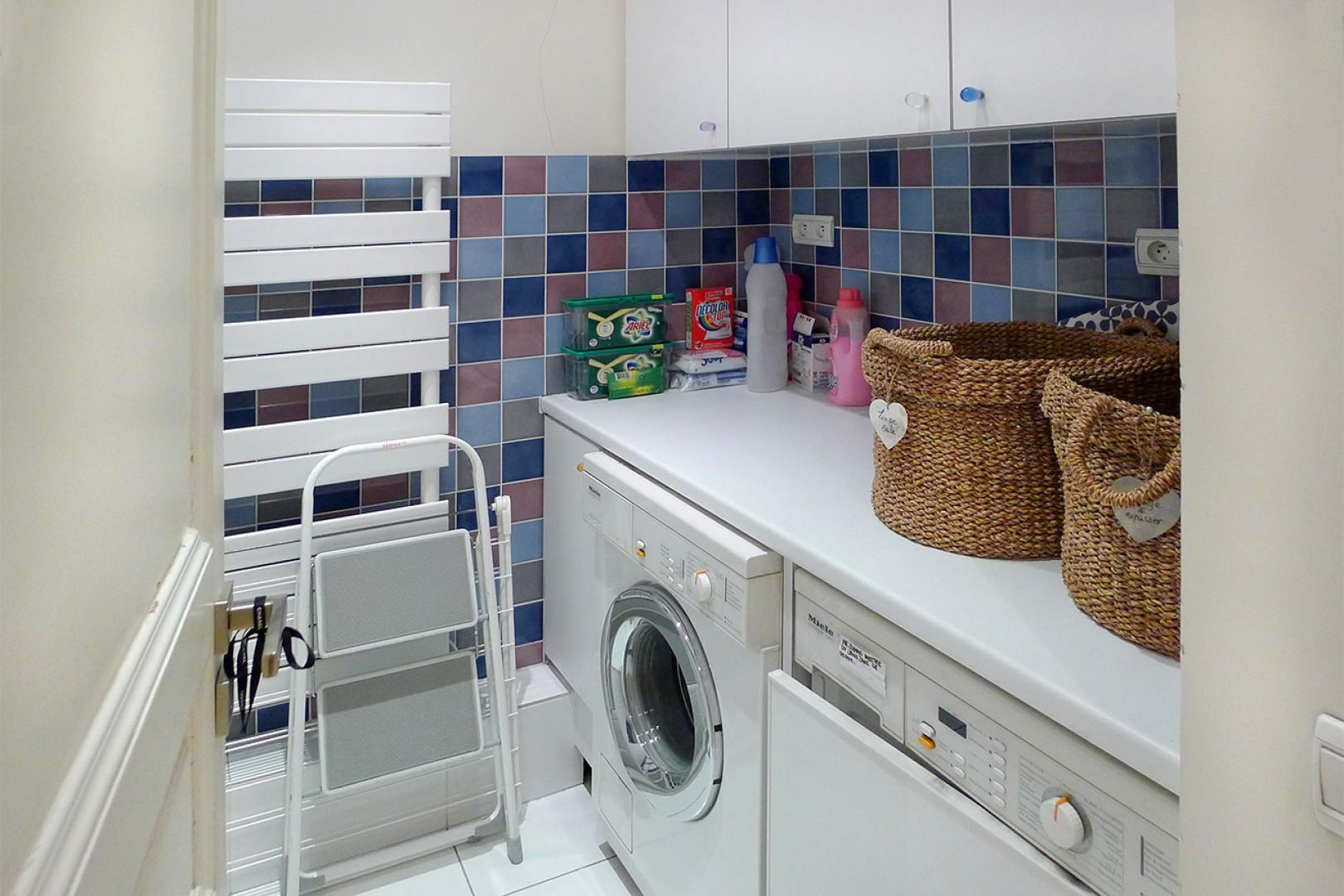 Laundry room with washer and separate dryer for your convenience