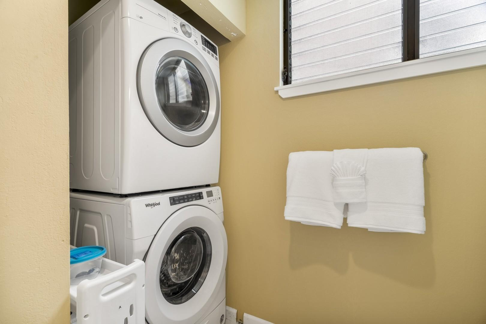 Full sized laundry accessible to guests