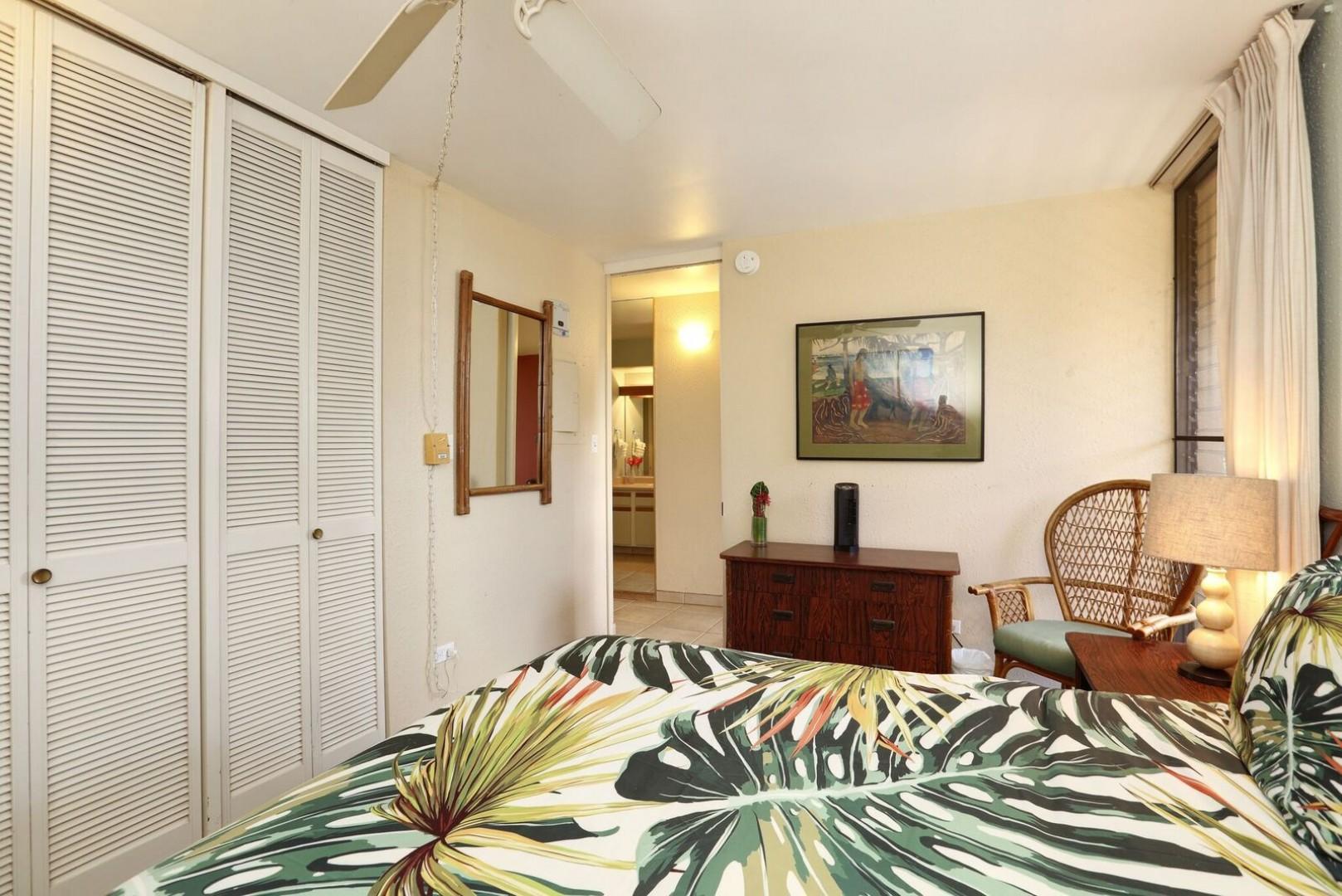 One bedroom unit with plenty of closet space
