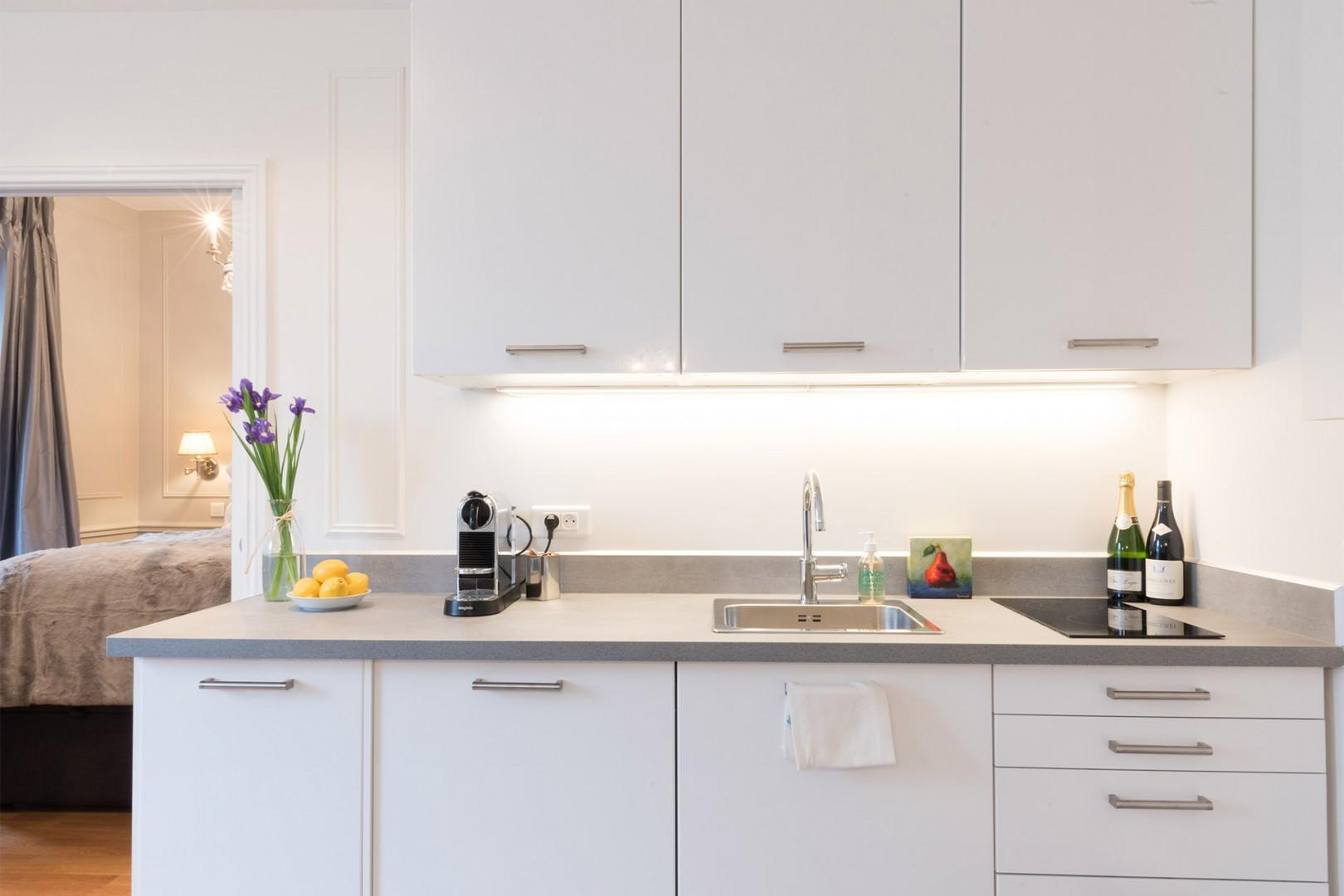 Enjoy cooking in this modern and efficient kitchen.