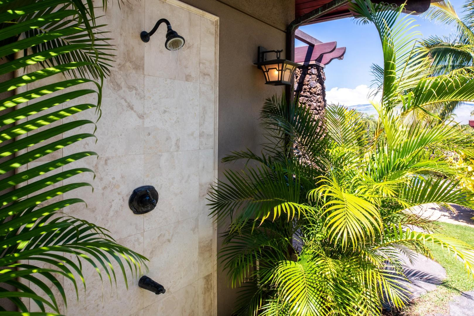 Outdoor Shower Off Master Bath