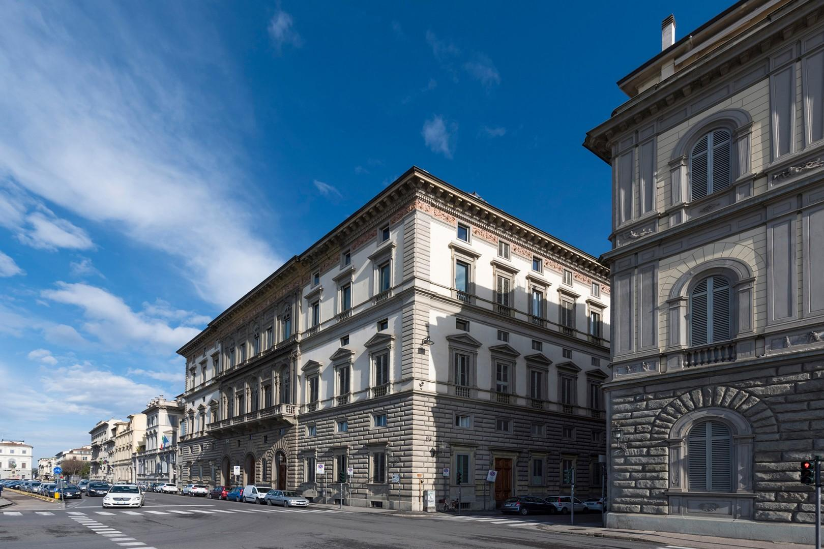 Elegant 19th century palazzo where the apartment is located.
