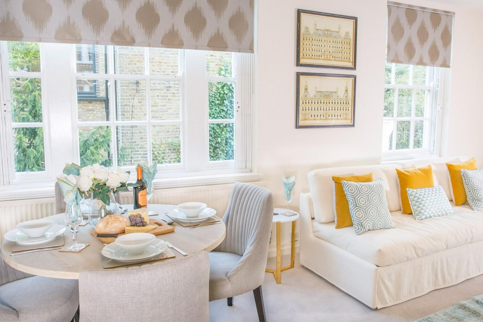 The open plan living and dining area is perfect for entertaining