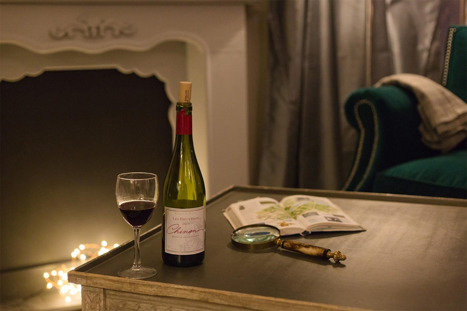 Enjoy a romantic night in at the cozy apartment.