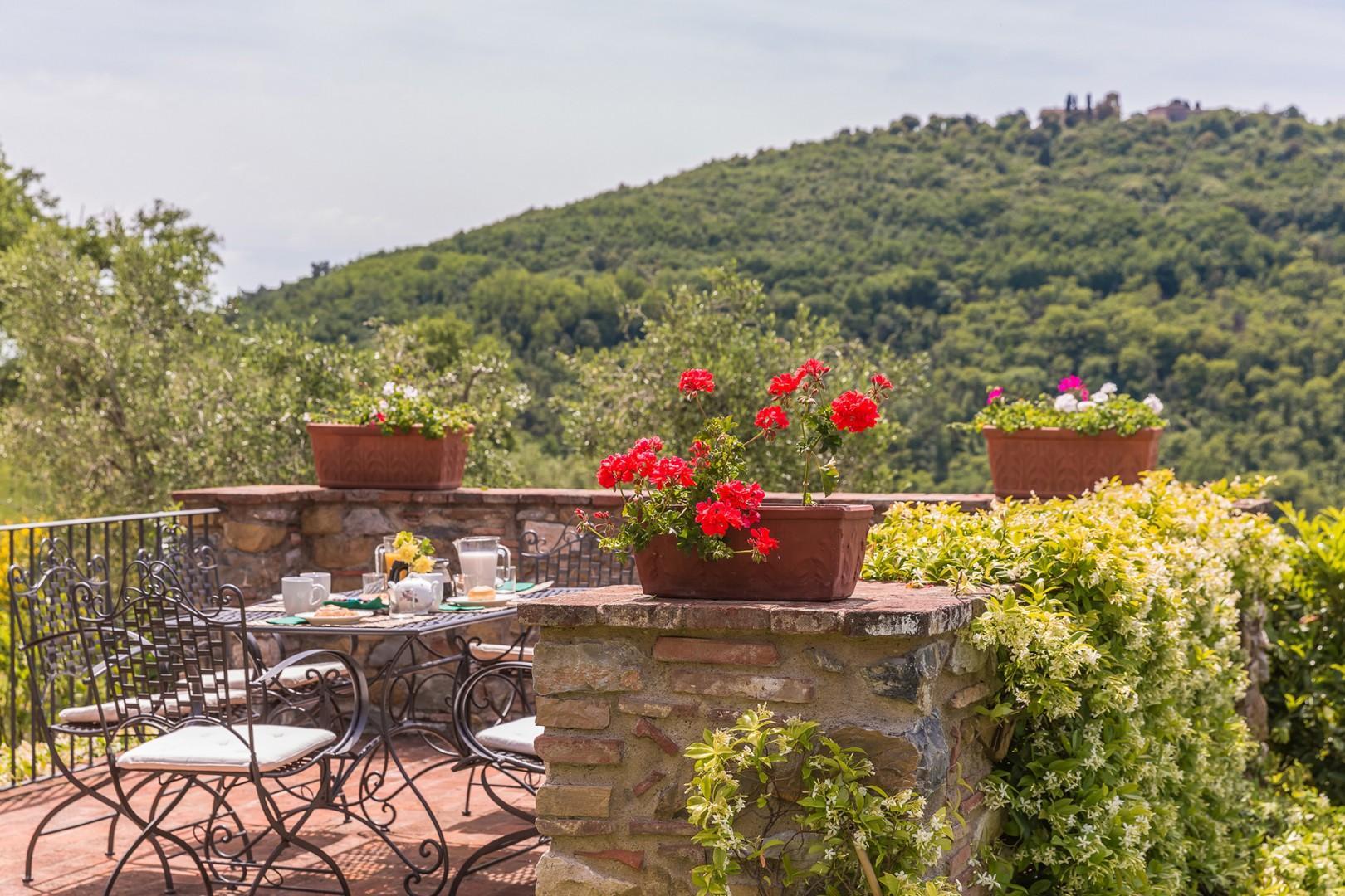 Views of Monsummano Alto from the table.