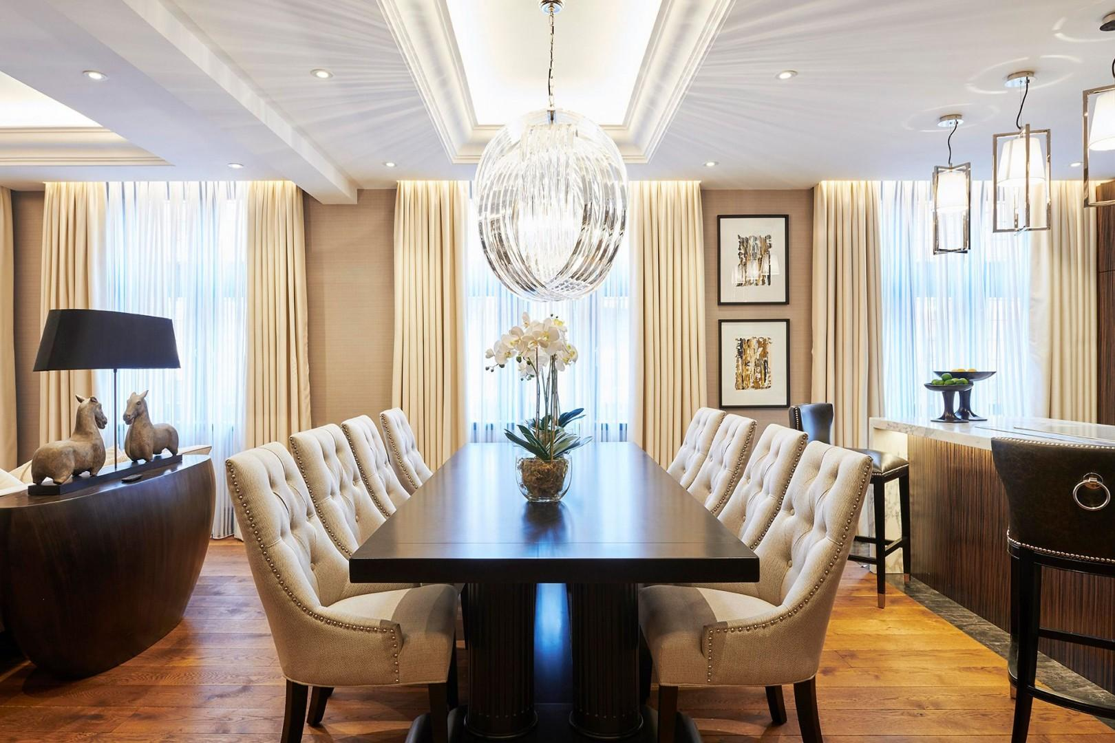 Large dining table will accommodate all guests