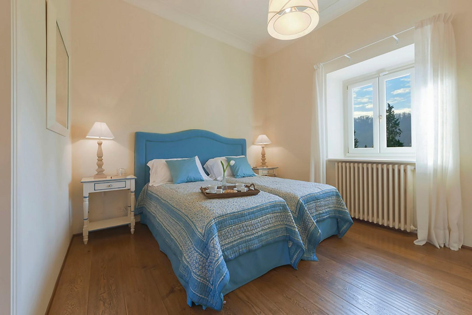 Bedroom 5, located on the 3rd floor with combinable beds and beautiful view.