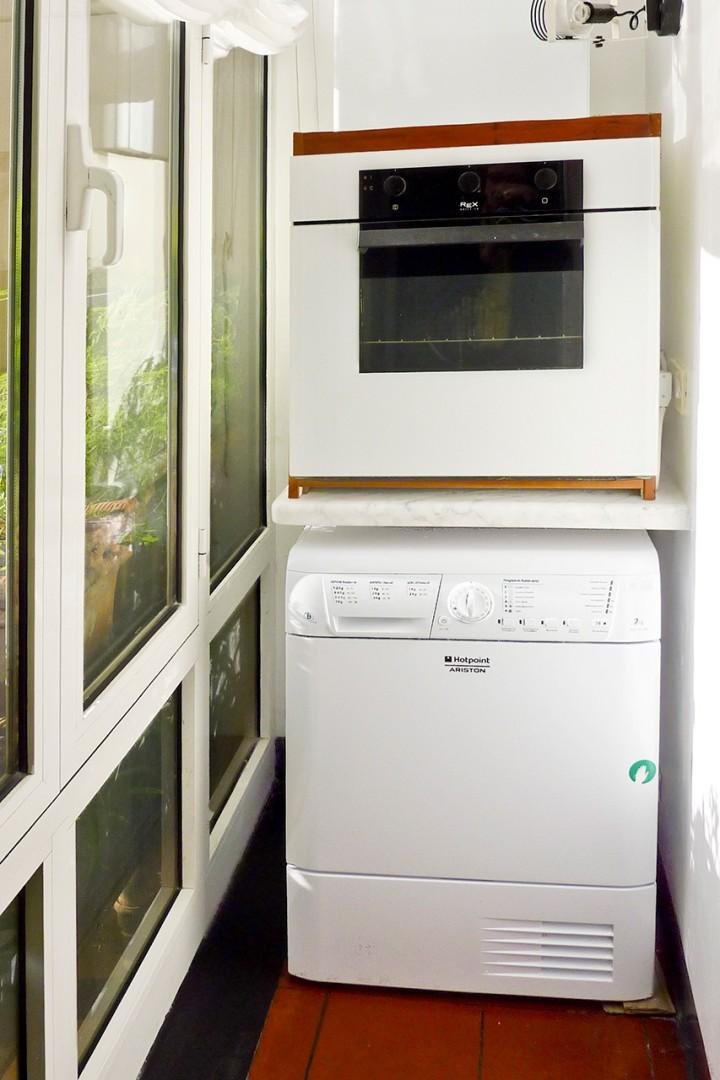 Washer and a dryer. Clothes dryers are a rare find in Italian vacation rentals!