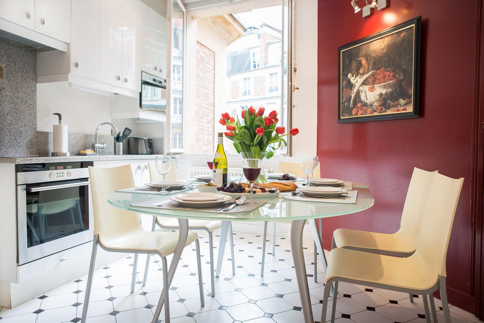 Enjoy elegant meals or casual gatherings in the dining area.