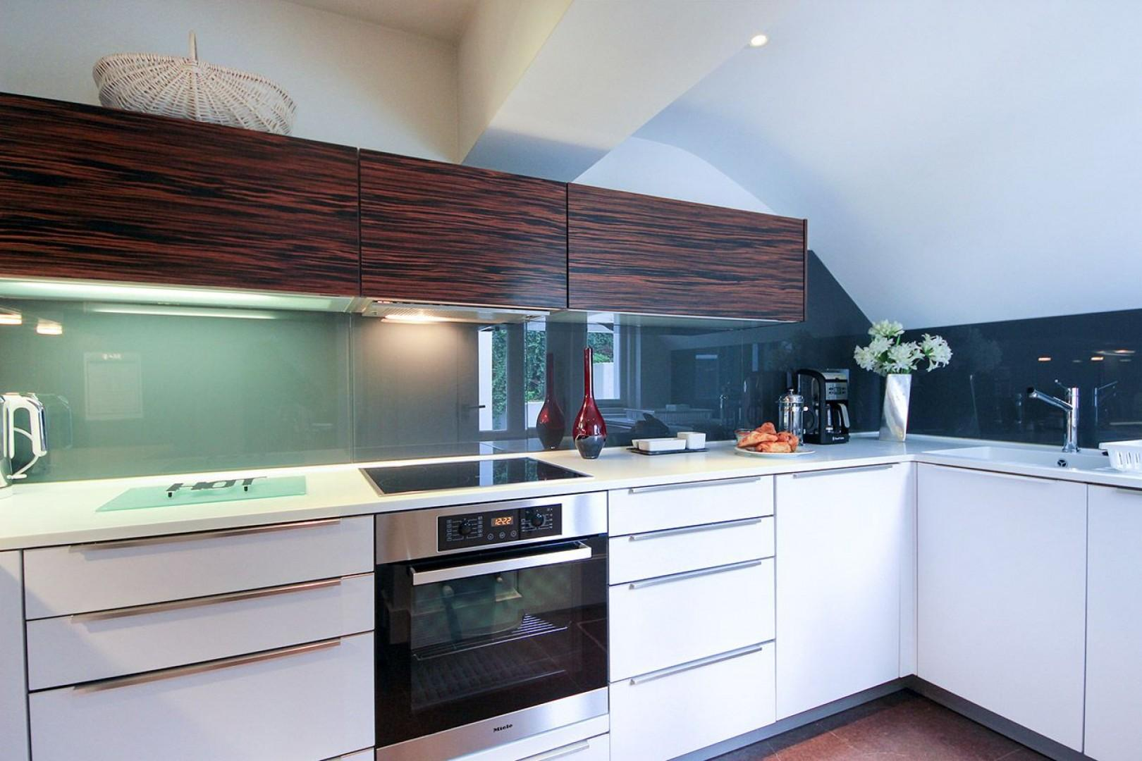 Designer kitchen is fully equipped with everything you need