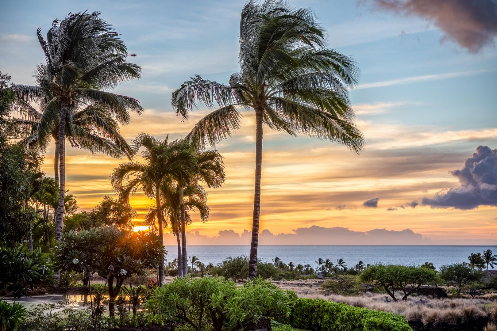 Enjoy breathtaking sunsets from your own private oasis in paradise.