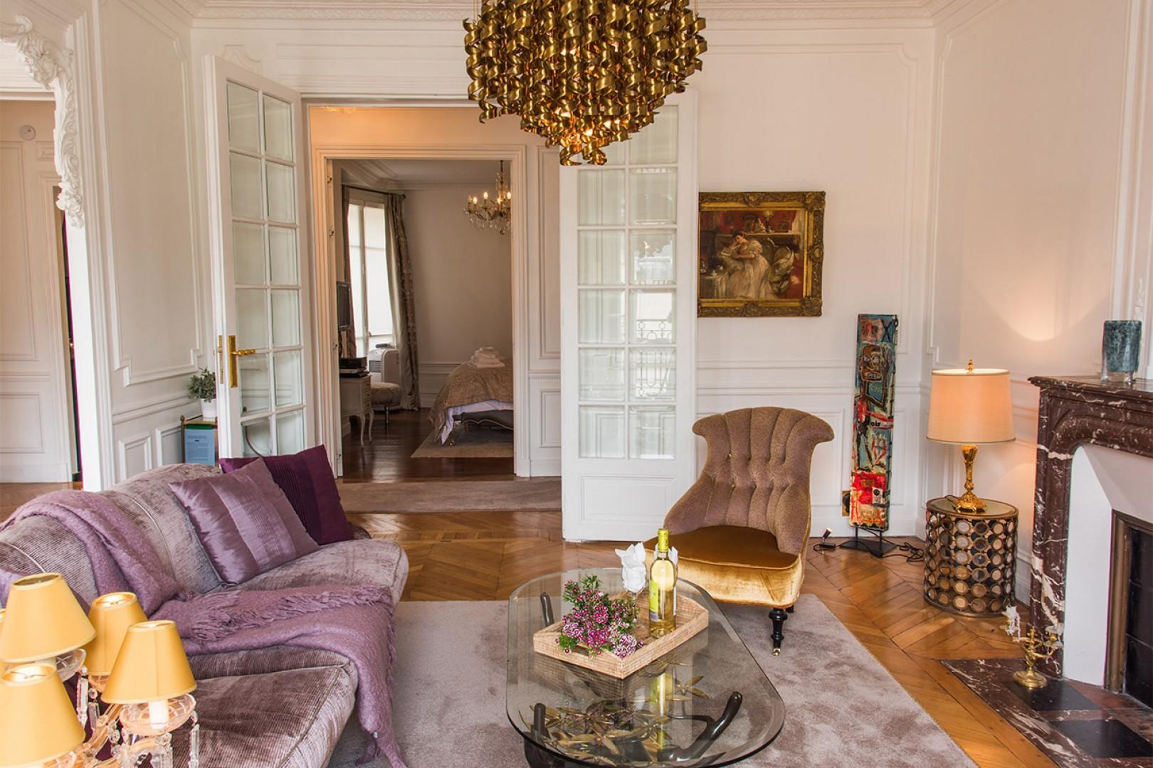 Enjoy lively conversations in your Paris apartment.